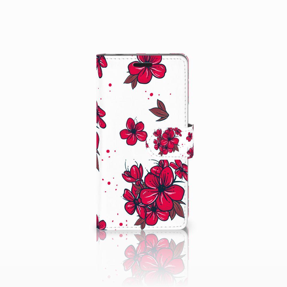 Sony Xperia E3 Boekhoesje Design Blossom Red