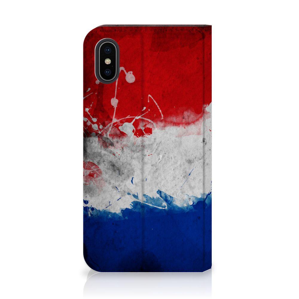 Apple iPhone X | Xs Uniek Standcase Hoesje Nederlandse Vlag