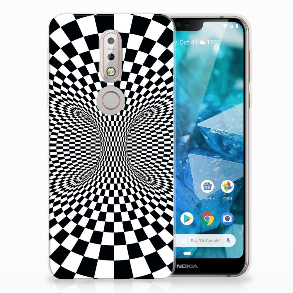 Nokia 7.1 TPU Hoesje Design Illusie