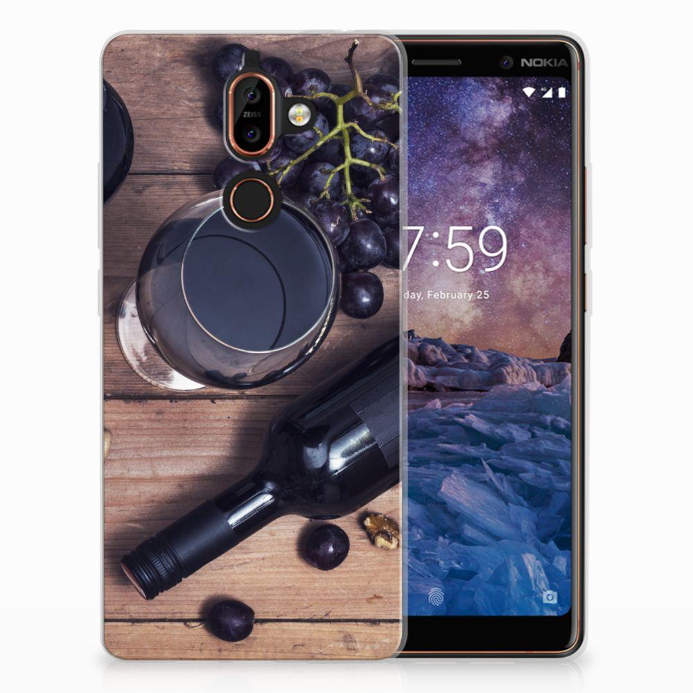 Nokia 7 Plus Siliconen Case Wijn