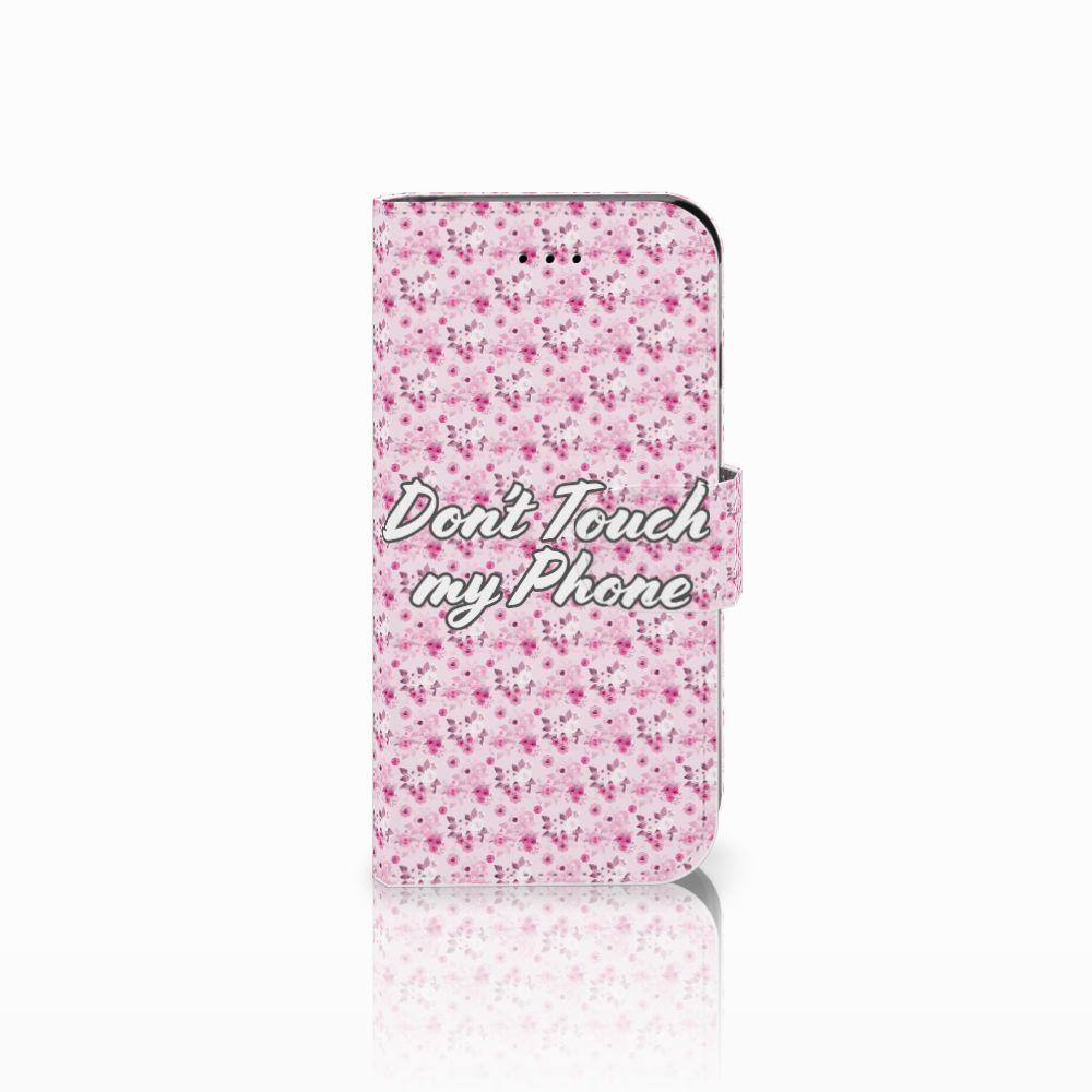 Apple iPhone 6 | 6s Uniek Boekhoesje Flowers Pink DTMP