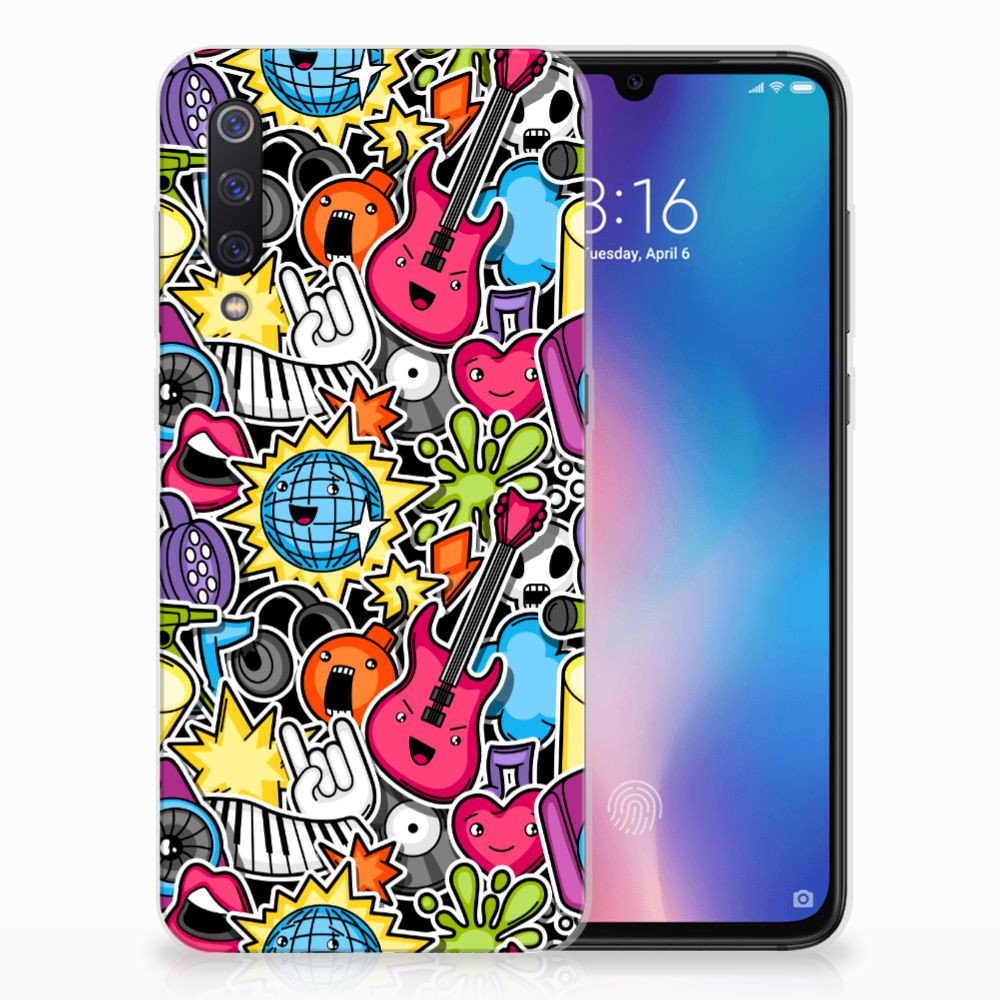 Xiaomi Mi 9 Silicone Back Cover Punk Rock