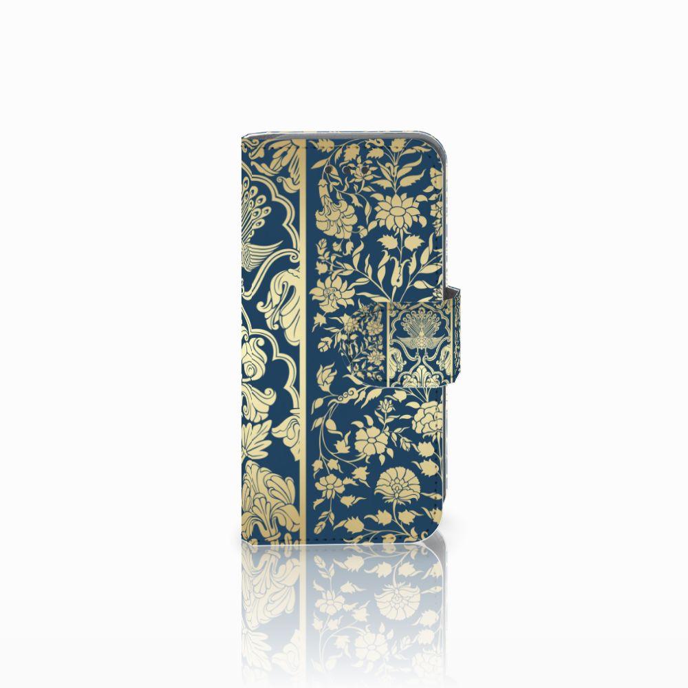Apple iPod Touch 5 | 6 Uniek Boekhoesje Golden Flowers