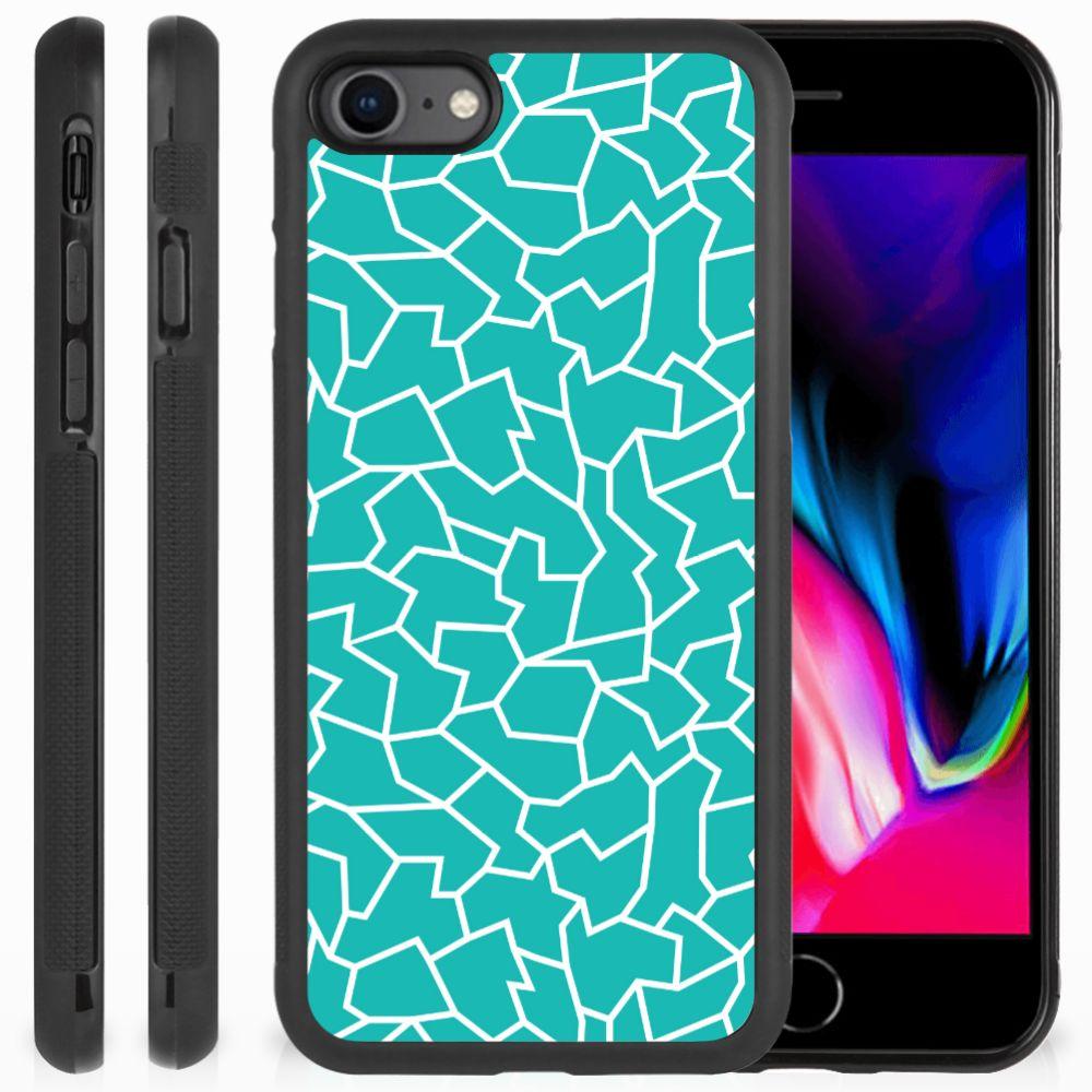 Apple iPhone 7 | 8 Case Cracks Blue