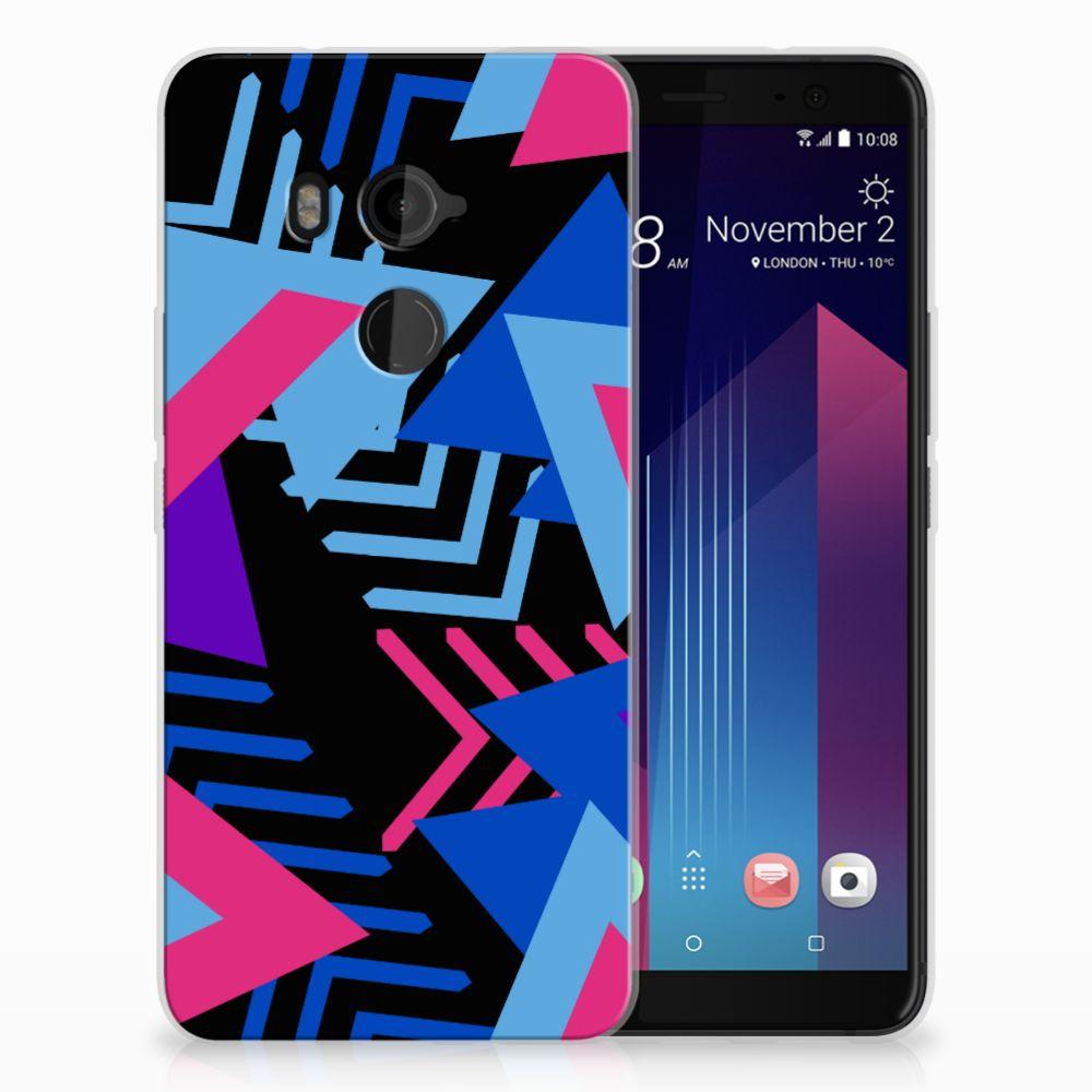 HTC U11 Plus TPU Hoesje Funky Triangle