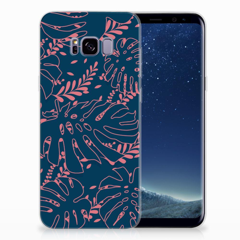 Samsung Galaxy S8 Plus TPU Hoesje Design Palm Leaves