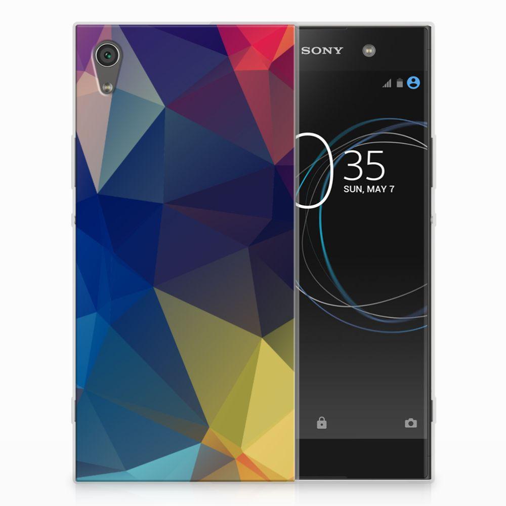 Sony Xperia XA1 Ultra TPU Hoesje Polygon Dark