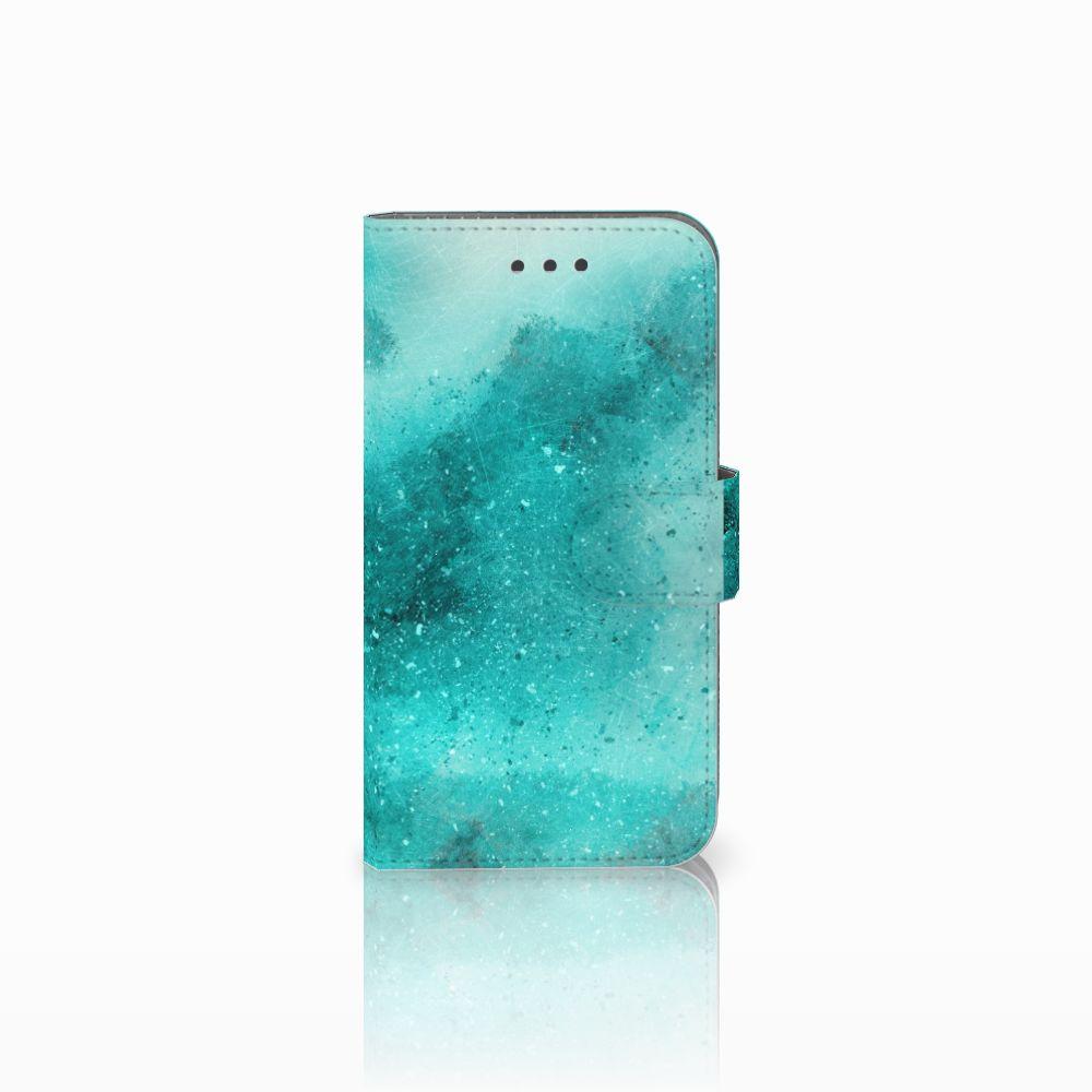 Samsung Galaxy Xcover 3 | Xcover 3 VE Uniek Boekhoesje Painting Blue