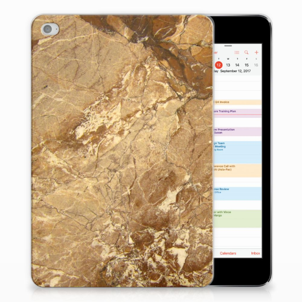 Apple iPad Mini 4 | Mini 5 (2019) Tablet Back Cover Marmer Creme