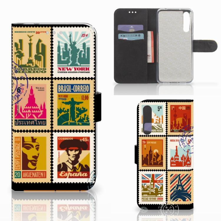 Huawei P20 Pro Flip Cover Postzegels