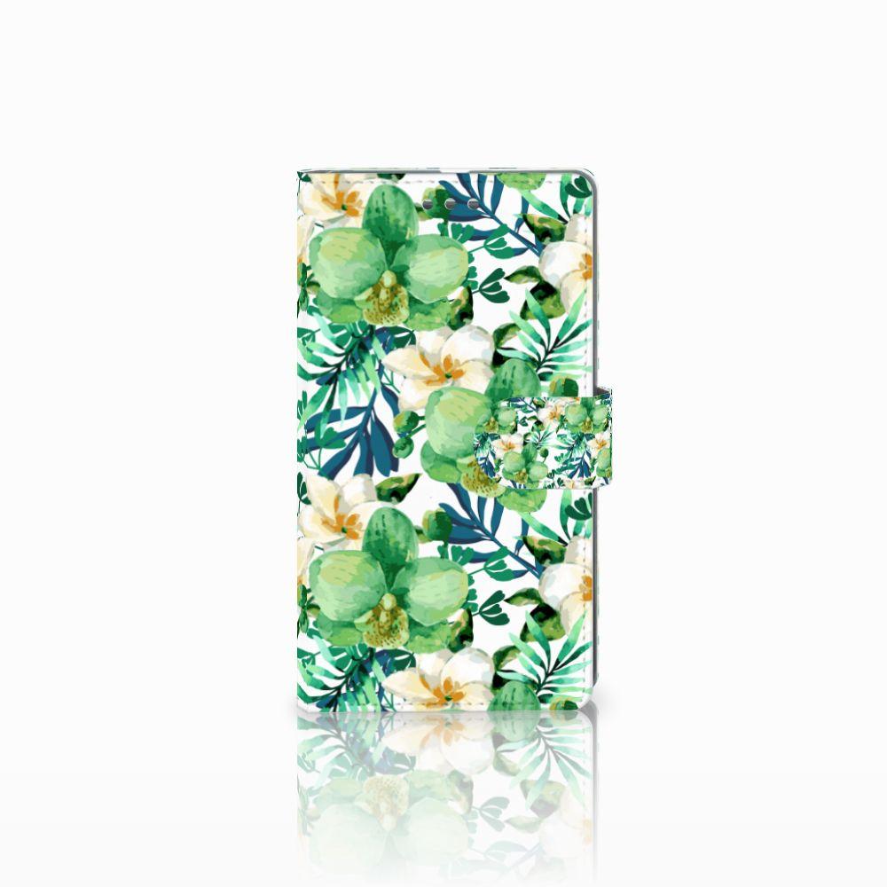Microsoft Lumia 950 XL Uniek Boekhoesje Orchidee Groen
