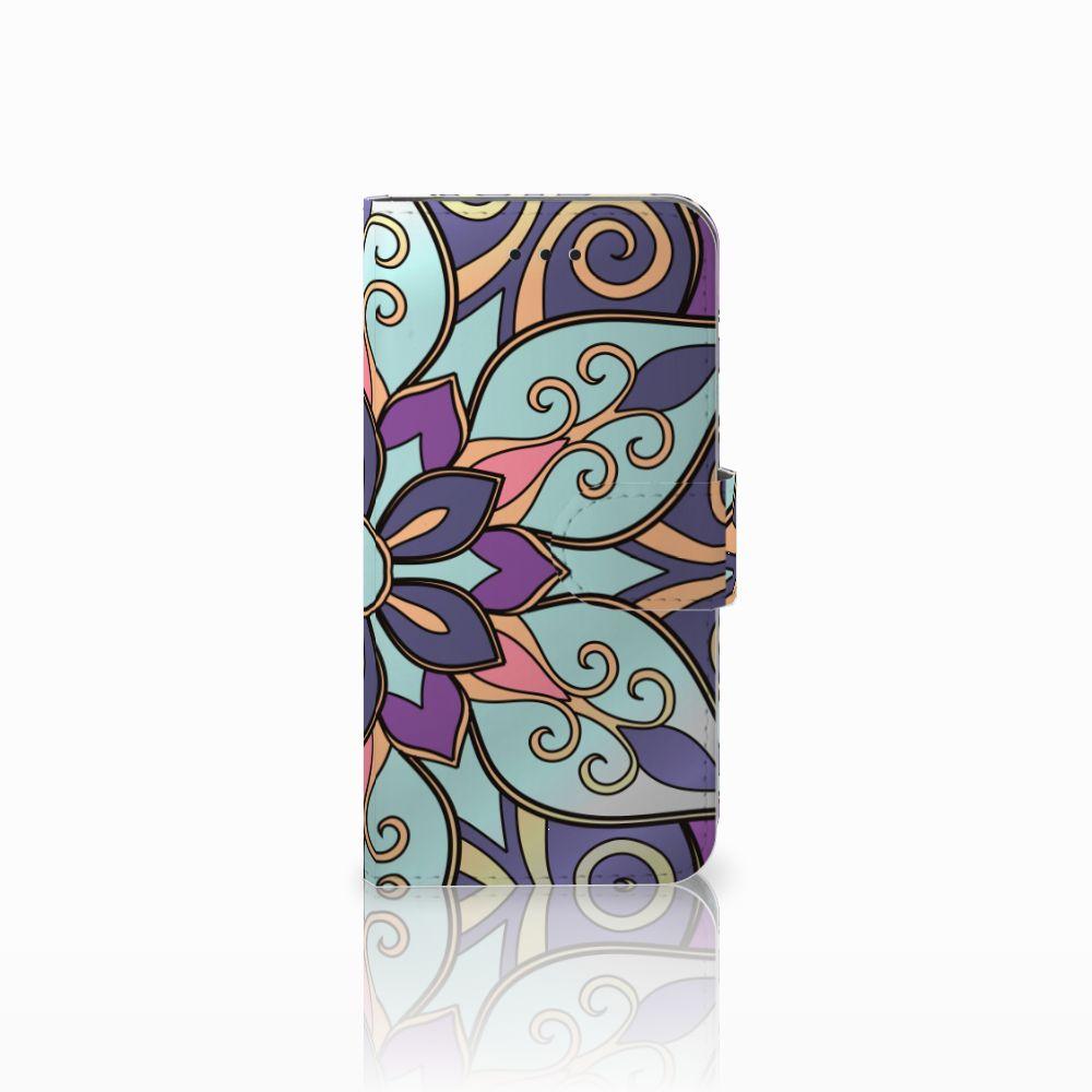 Apple iPhone X | Xs Boekhoesje Design Purple Flower