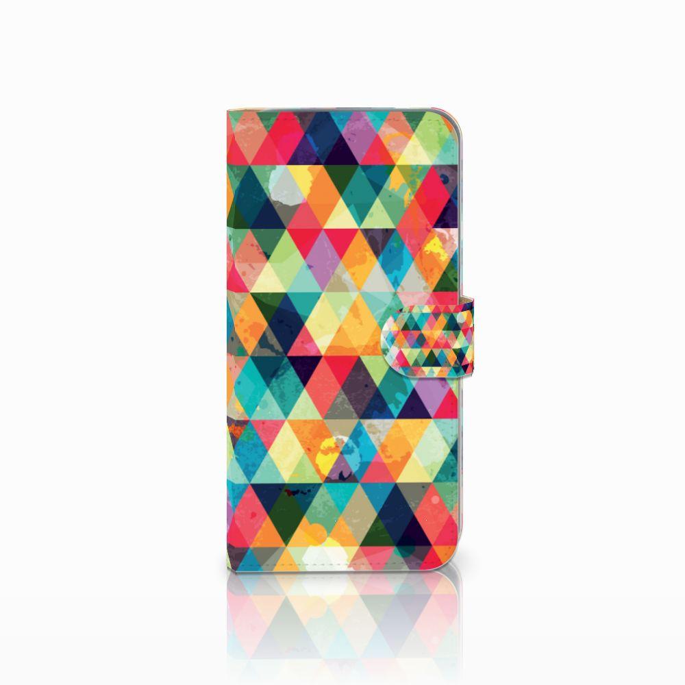 HTC Desire 10 Pro Uniek Boekhoesje Geruit