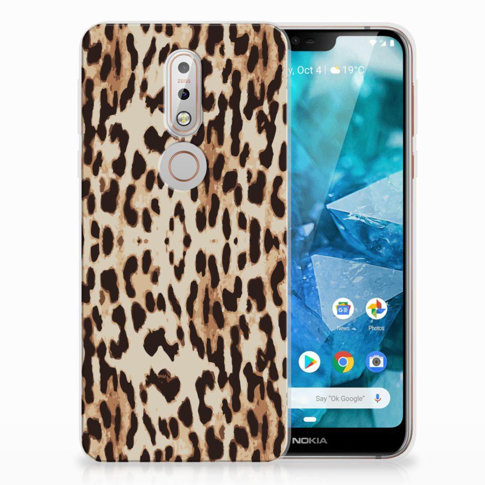 Nokia 7.1 Uniek TPU Hoesje Leopard