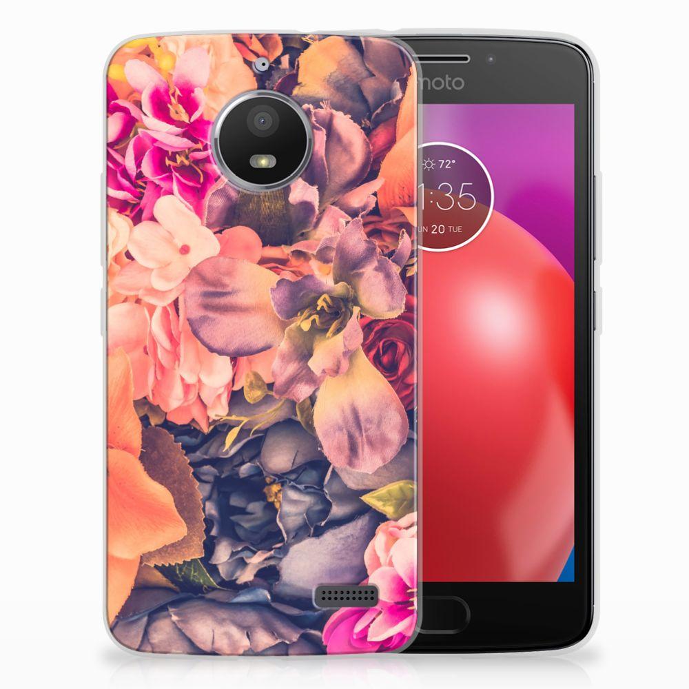 Motorola Moto E4 TPU Hoesje Design Bosje Bloemen