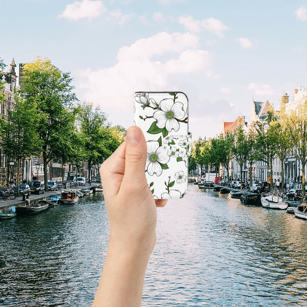 Apple iPhone 5 | 5s | SE Boekhoesje Design Dogwood Flowers