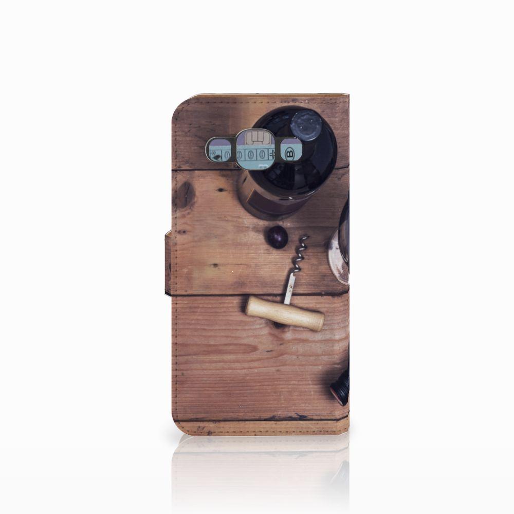 Samsung Galaxy E5 Book Cover Wijn
