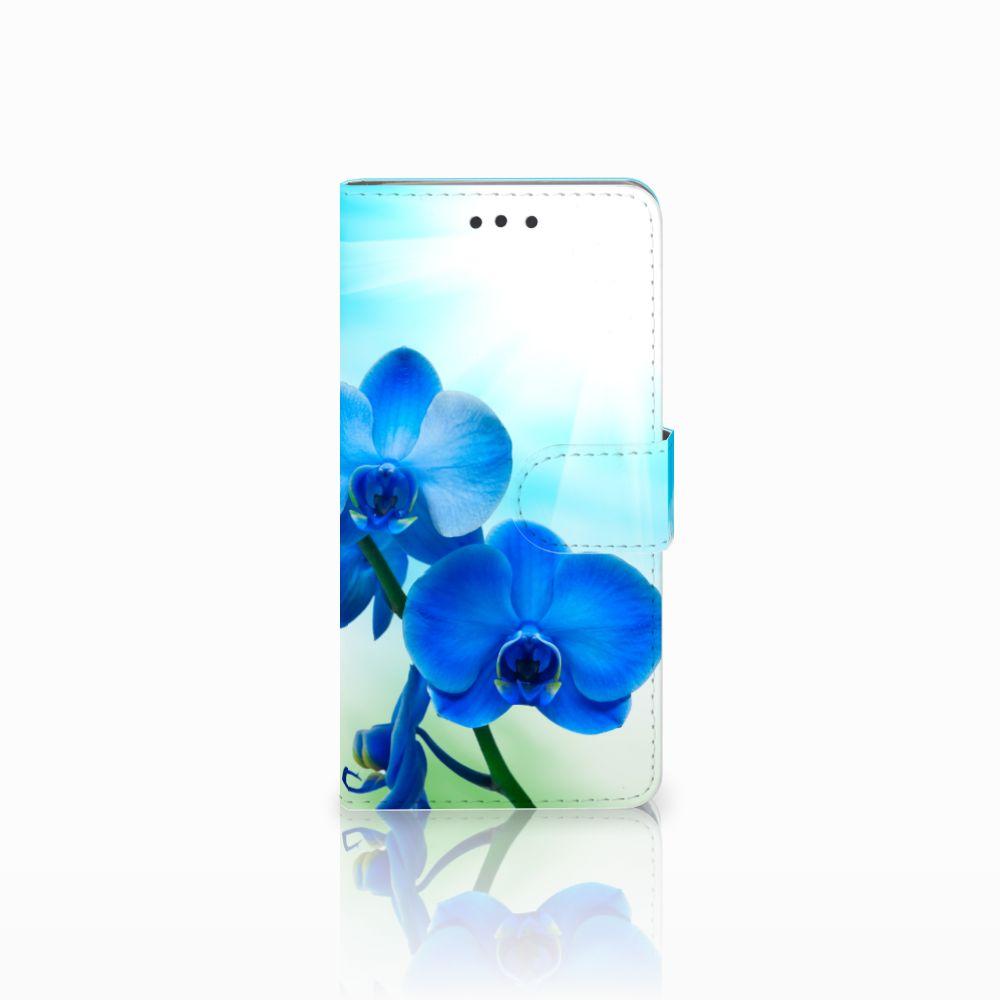 HTC U Play Boekhoesje Design Orchidee Blauw