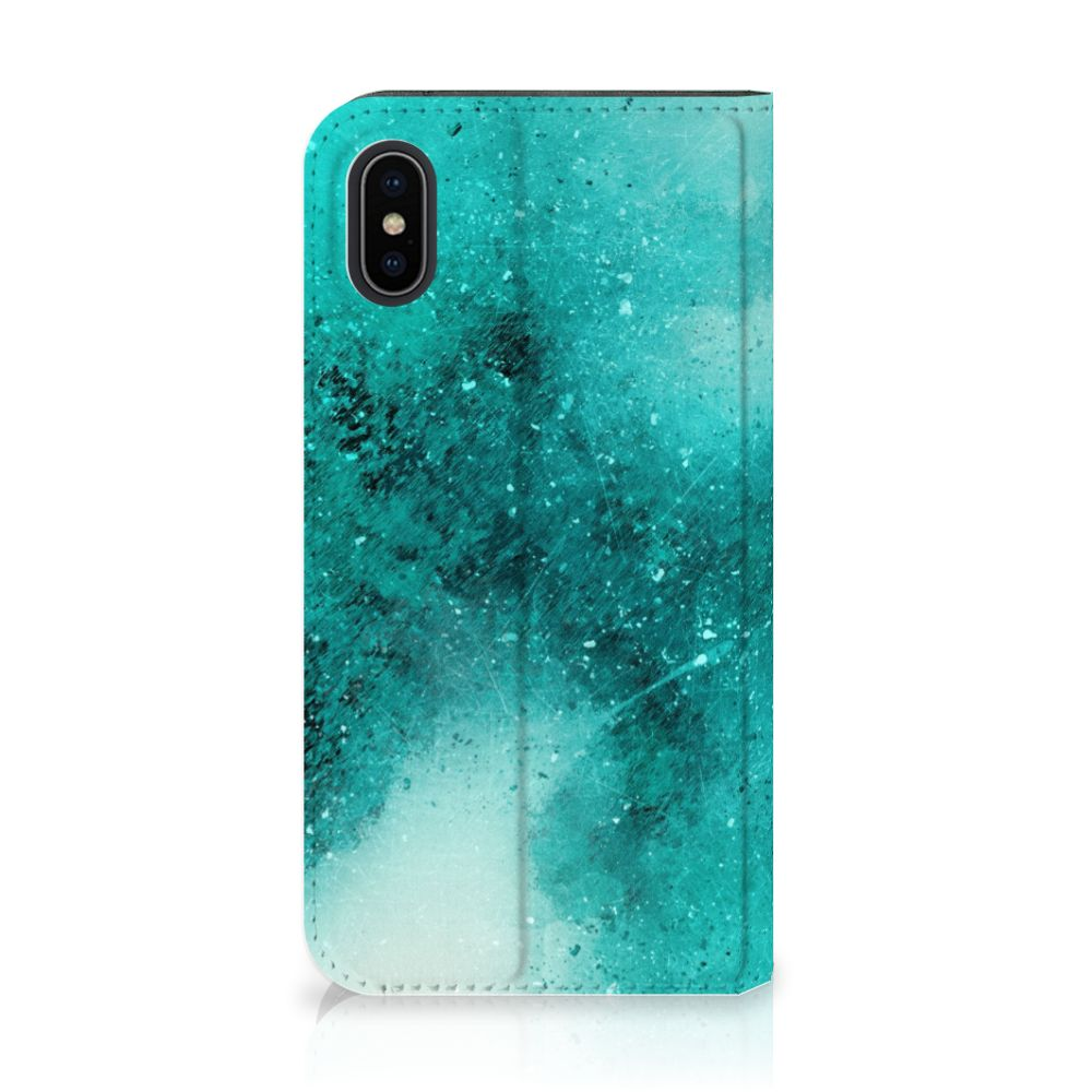 Apple iPhone X | Xs Uniek Standcase Hoesje Painting Blue
