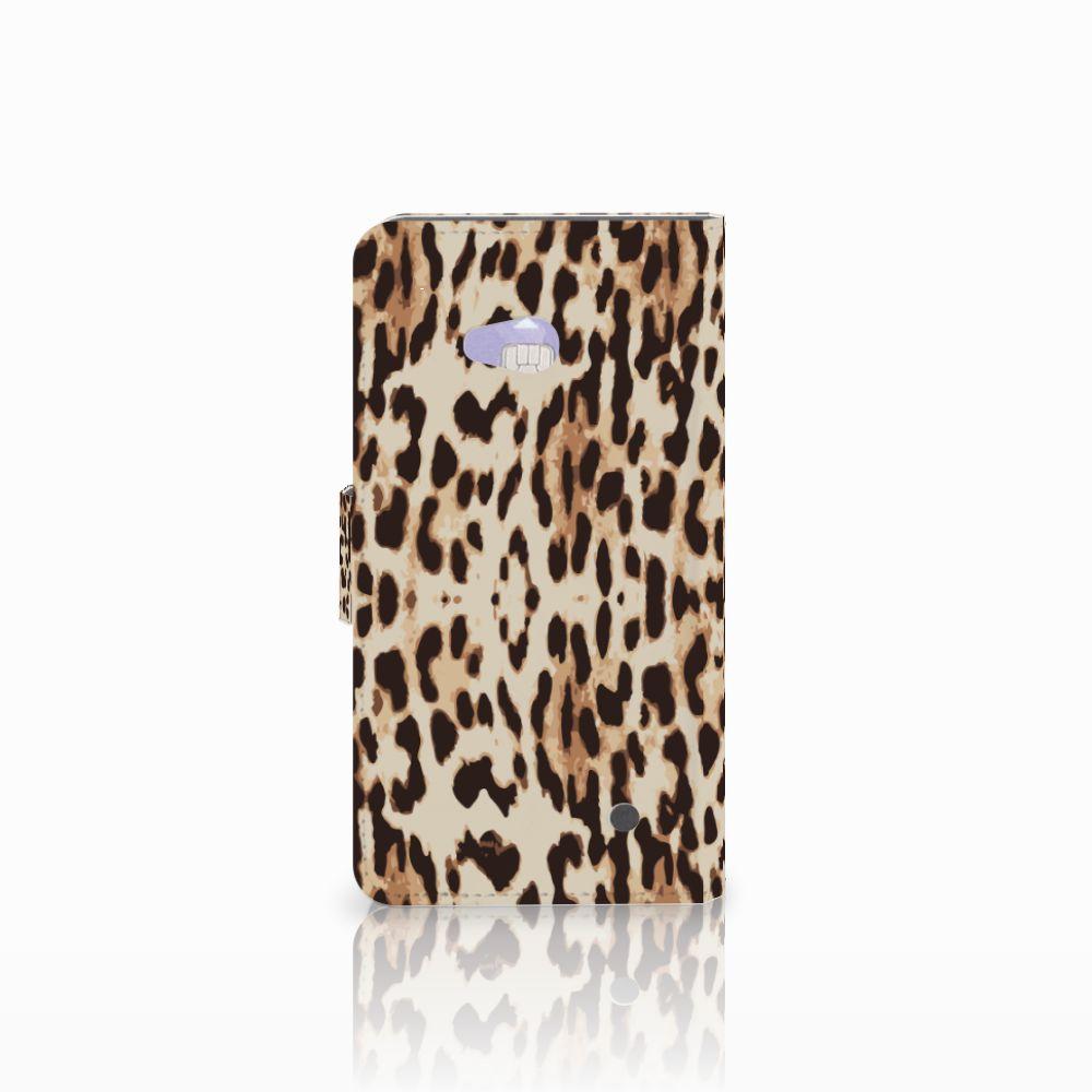 Microsoft Lumia 640 Telefoonhoesje met Pasjes Leopard