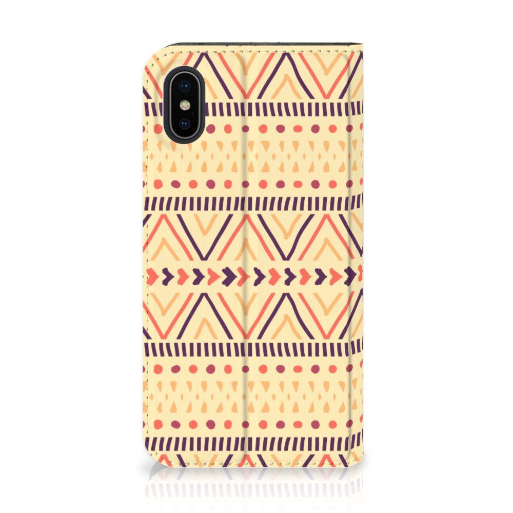 Apple iPhone X | Xs Uniek Standcase Hoesje Aztec Yellow
