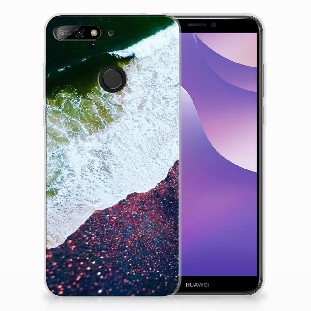 Huawei Y6 (2018) TPU Hoesje Design Sea in Space