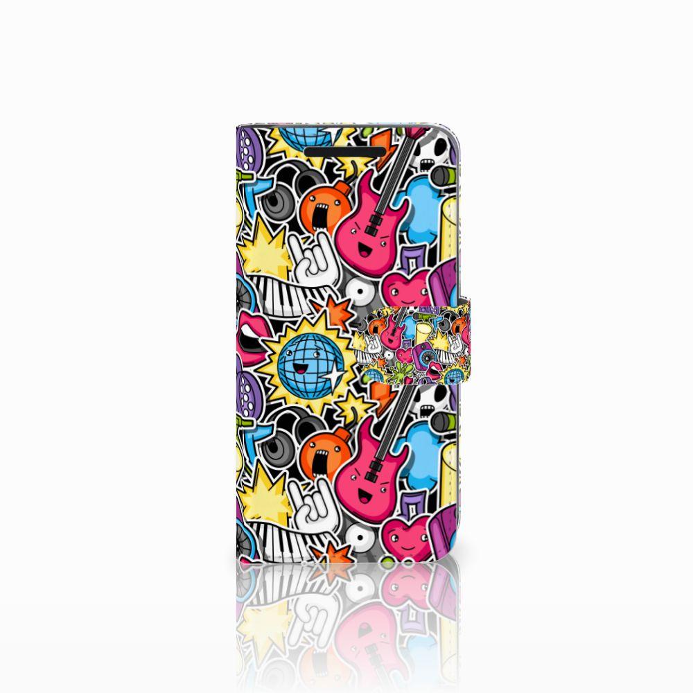 HTC One M9 Wallet Case met Pasjes Punk Rock