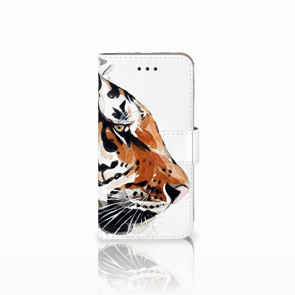 Apple iPhone X | Xs Uniek Boekhoesje Watercolor Tiger