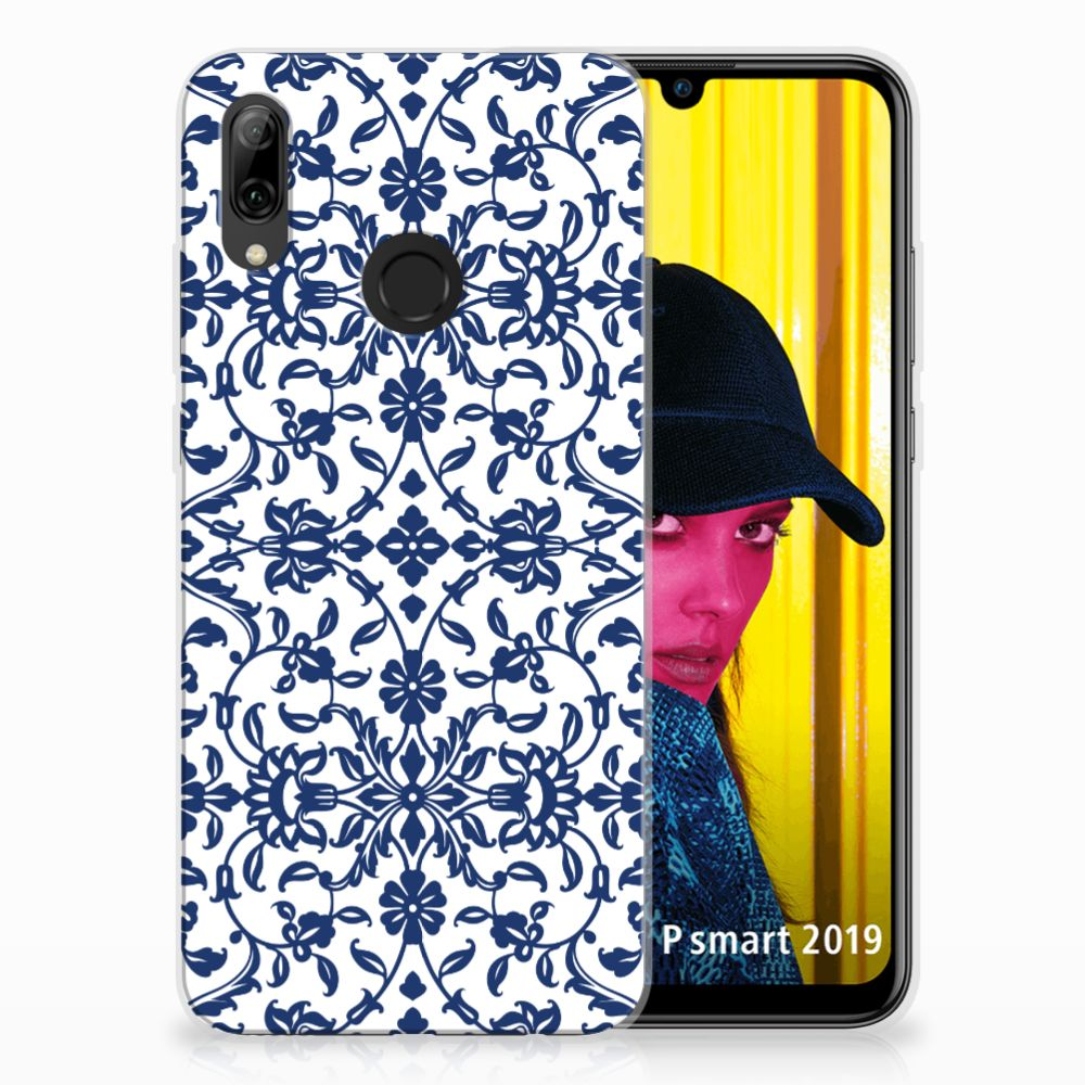 Huawei P Smart 2019 TPU Hoesje Flower Blue