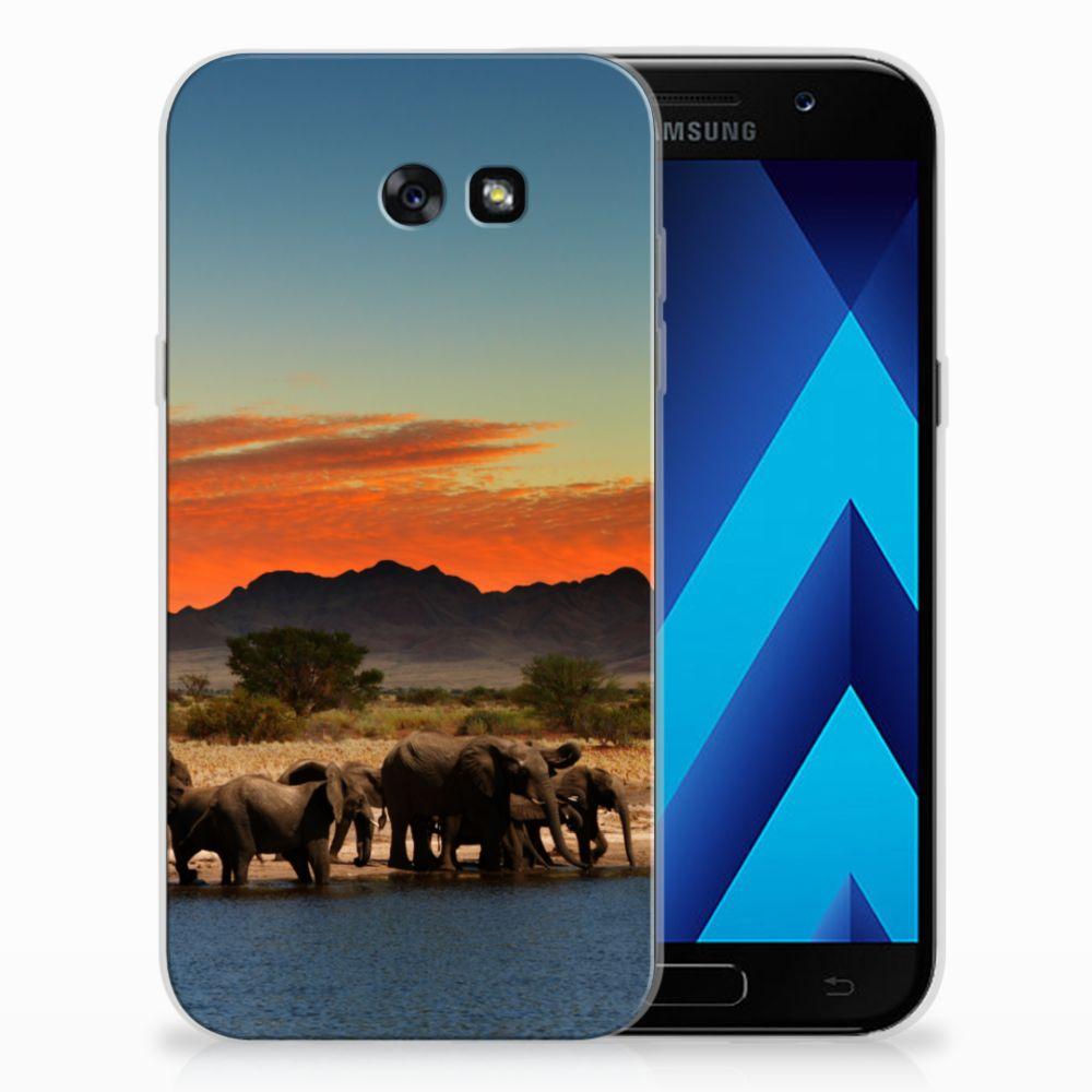 Samsung Galaxy A7 2017 TPU Hoesje Design Olifanten