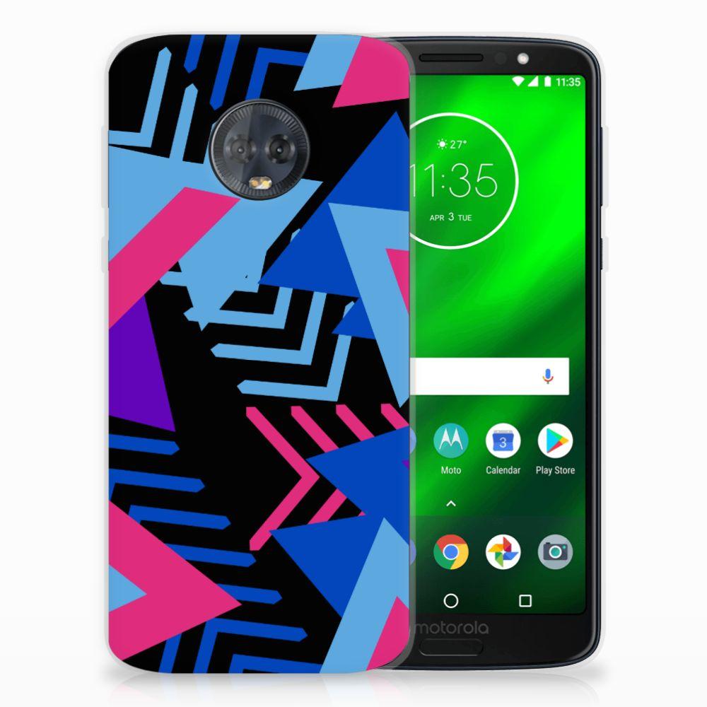 Motorola Moto G6 Plus TPU Hoesje Funky Triangle