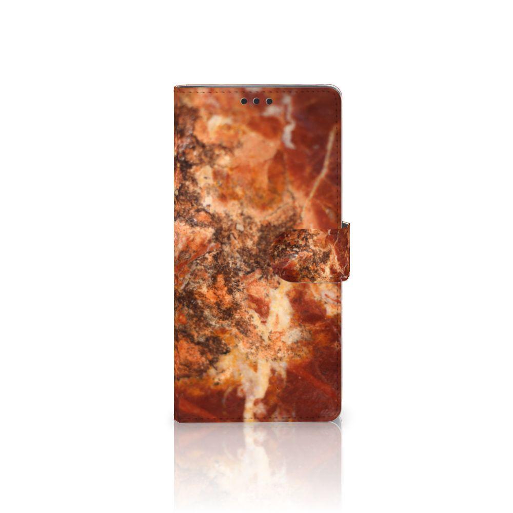 Sony Xperia XA Ultra Boekhoesje Design Marmer Bruin