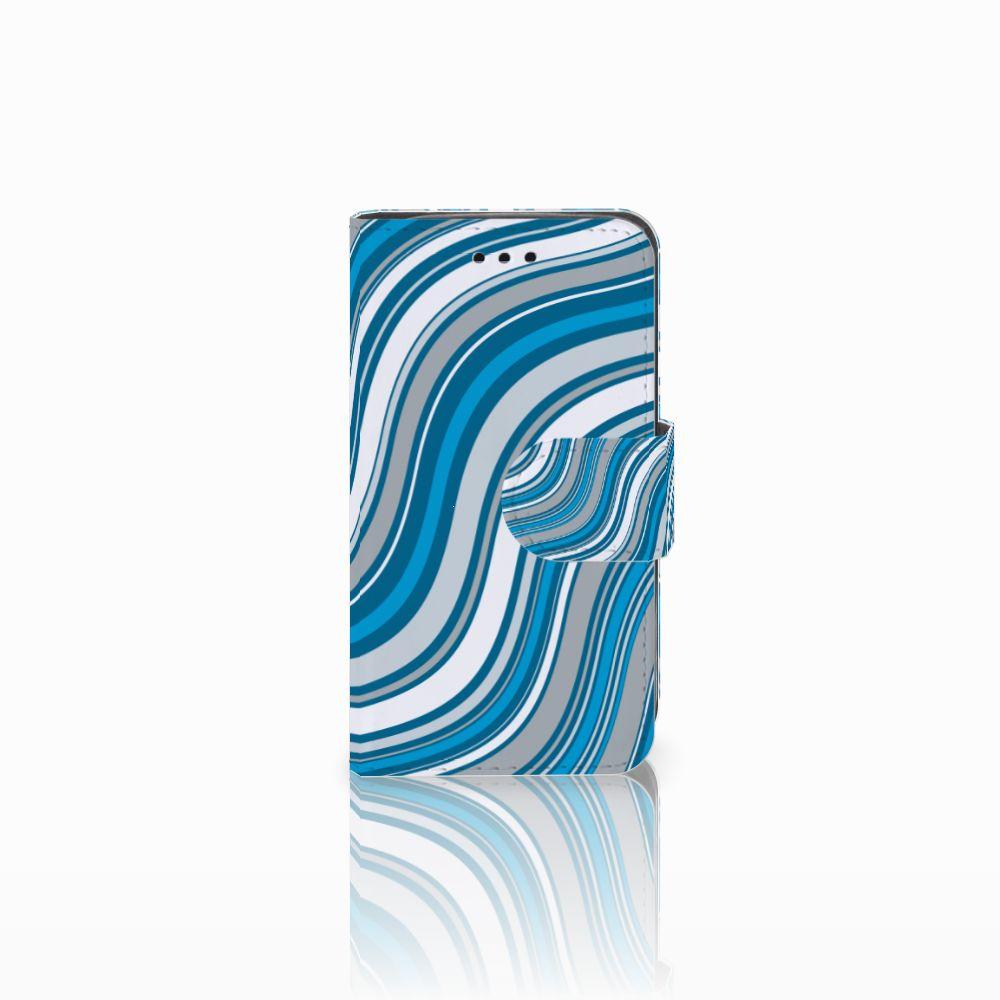 Samsung Galaxy Trend 2 Boekhoesje Design Waves Blue