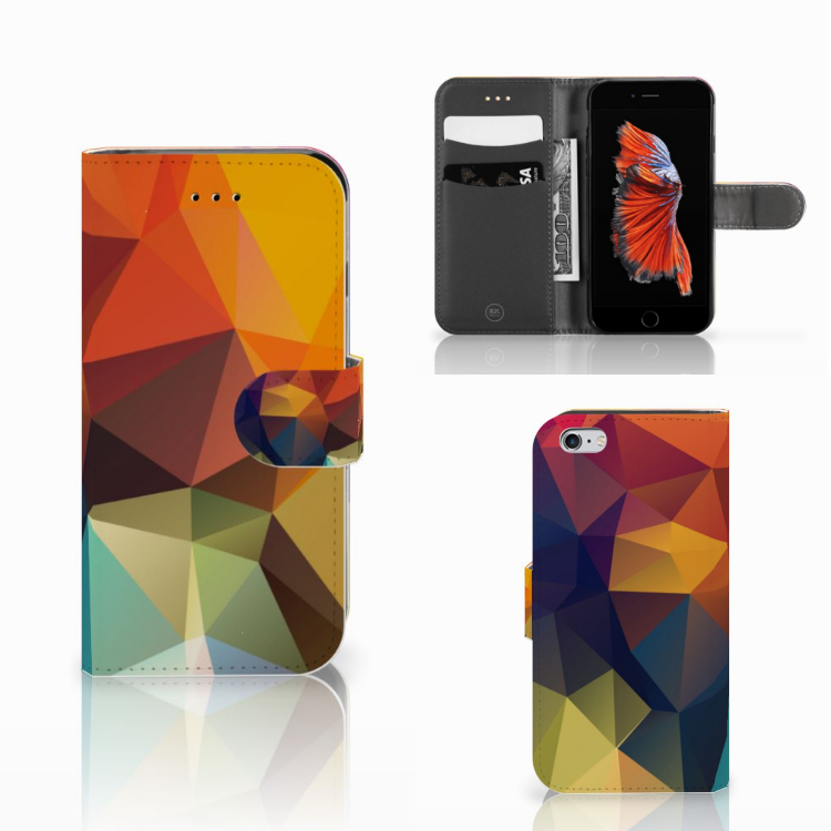 Apple iPhone 6 | 6s Bookcase Polygon Color