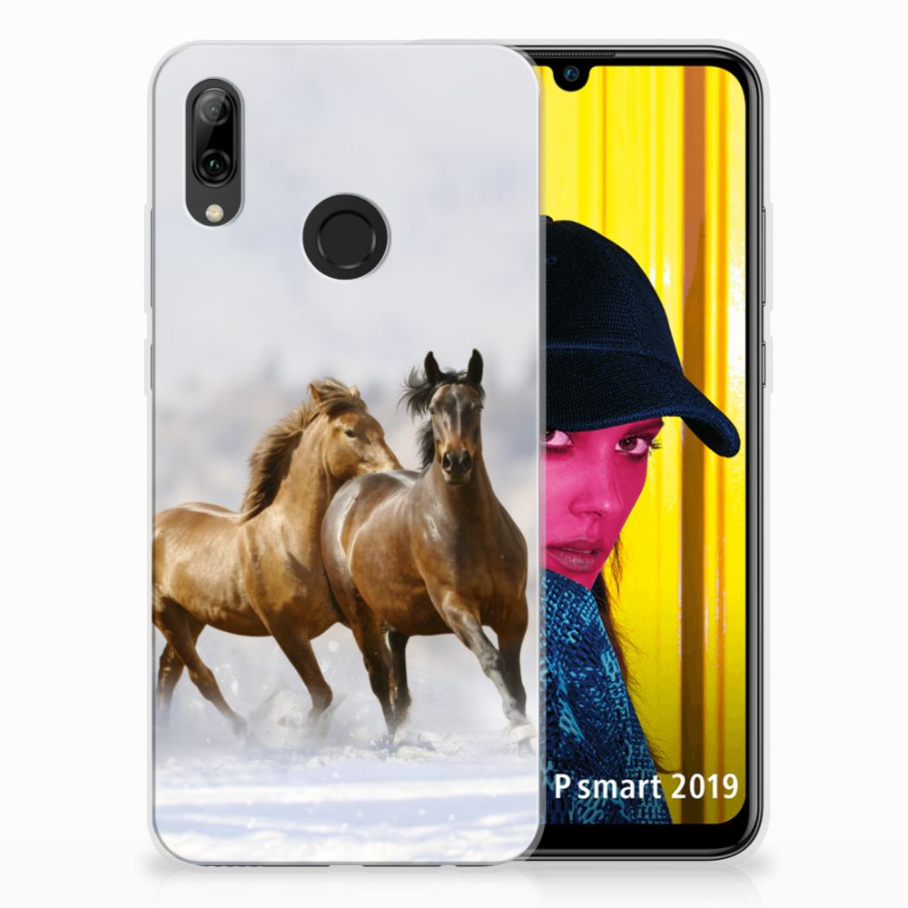 Huawei P Smart 2019 Leuk Hoesje Paarden