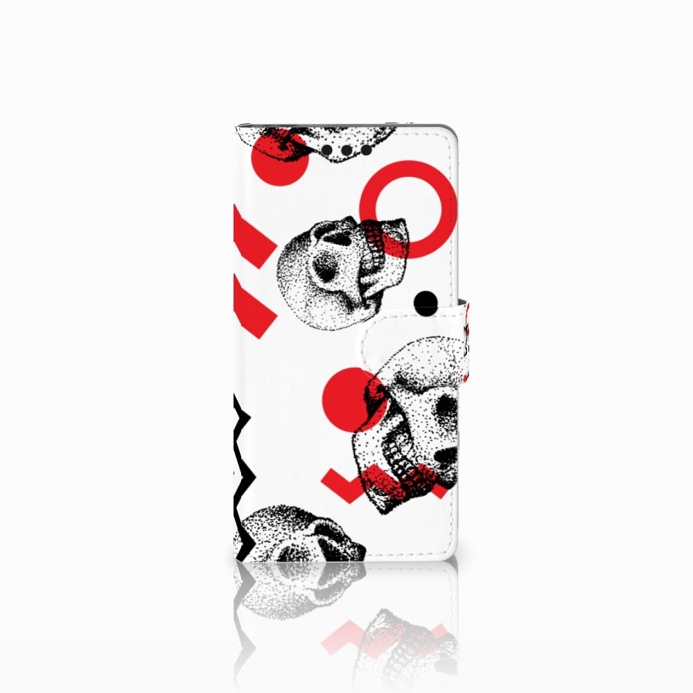 Sony Xperia M4 Aqua Boekhoesje Design Skull Red