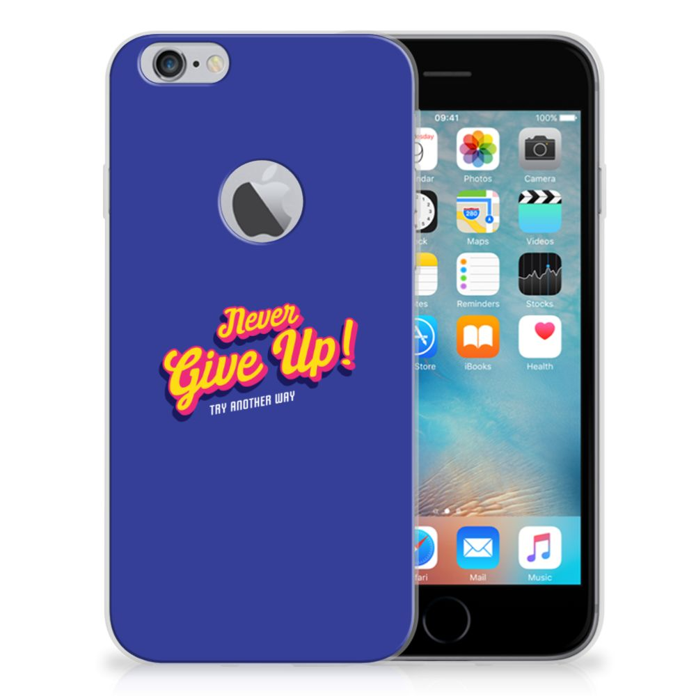 Apple iPhone 6 Plus | 6s Plus Siliconen hoesje met naam Never Give Up