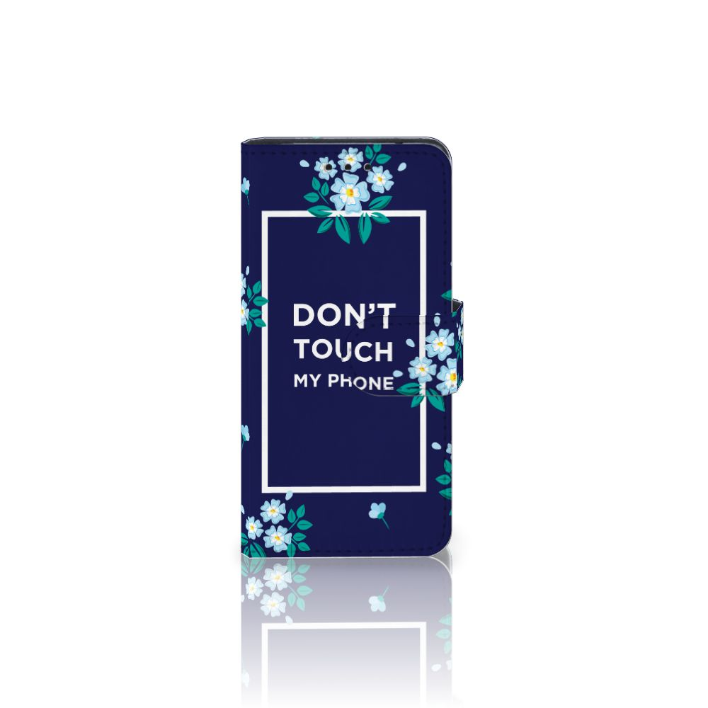 Samsung Galaxy S5 Mini Boekhoesje Flowers Blue DTMP