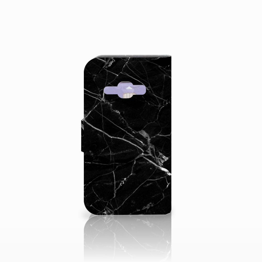 Samsung Galaxy J1 2016 Bookcase Marmer Zwart - Origineel Cadeau Vader