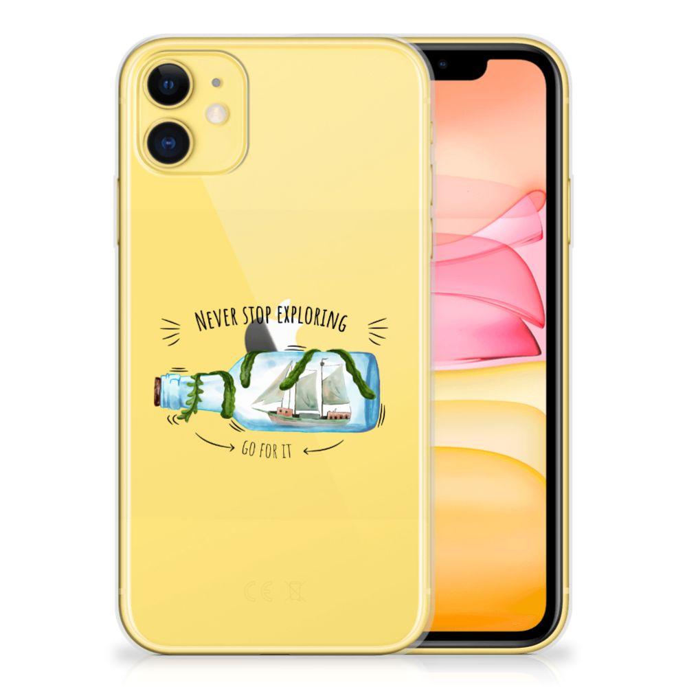 Apple iPhone 11 Telefoonhoesje met Naam Boho Bottle