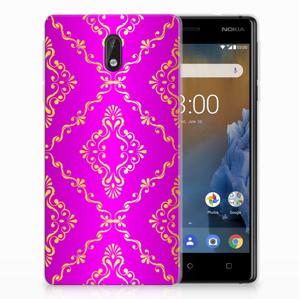 Nokia 3 Uniek TPU Hoesje Barok Roze