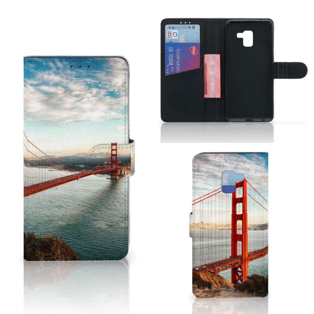Samsung Galaxy A8 Plus (2018) Flip Cover Golden Gate Bridge