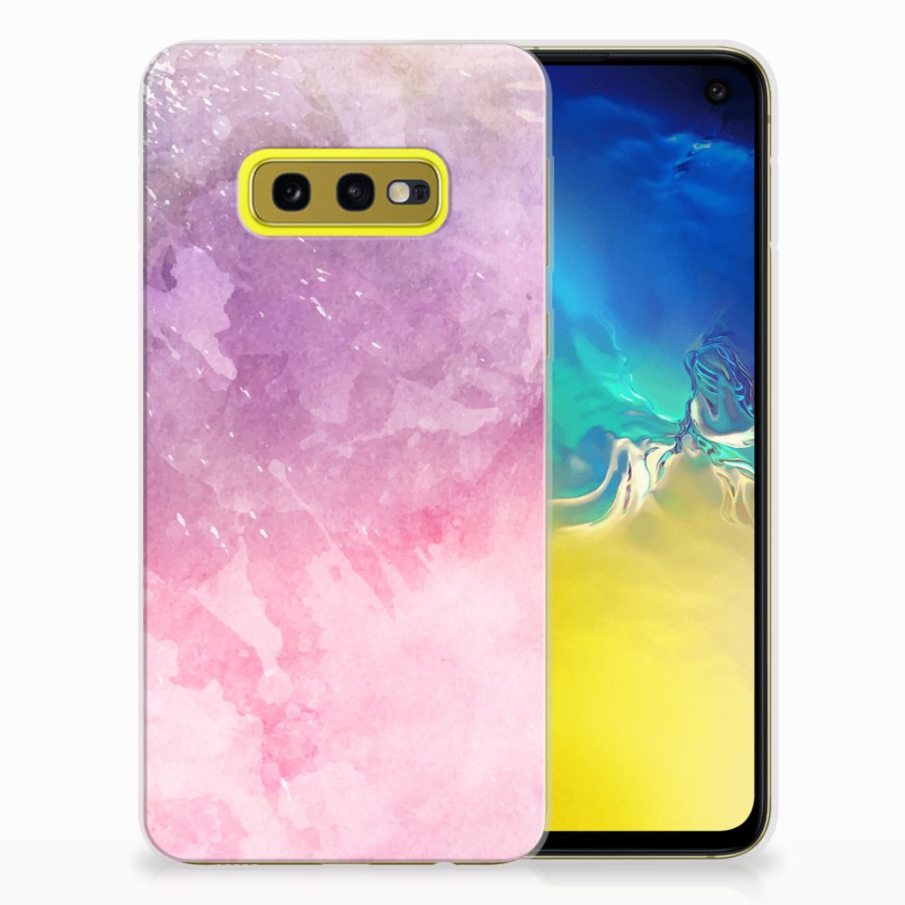 Hoesje maken Samsung Galaxy S10e Pink Purple Paint