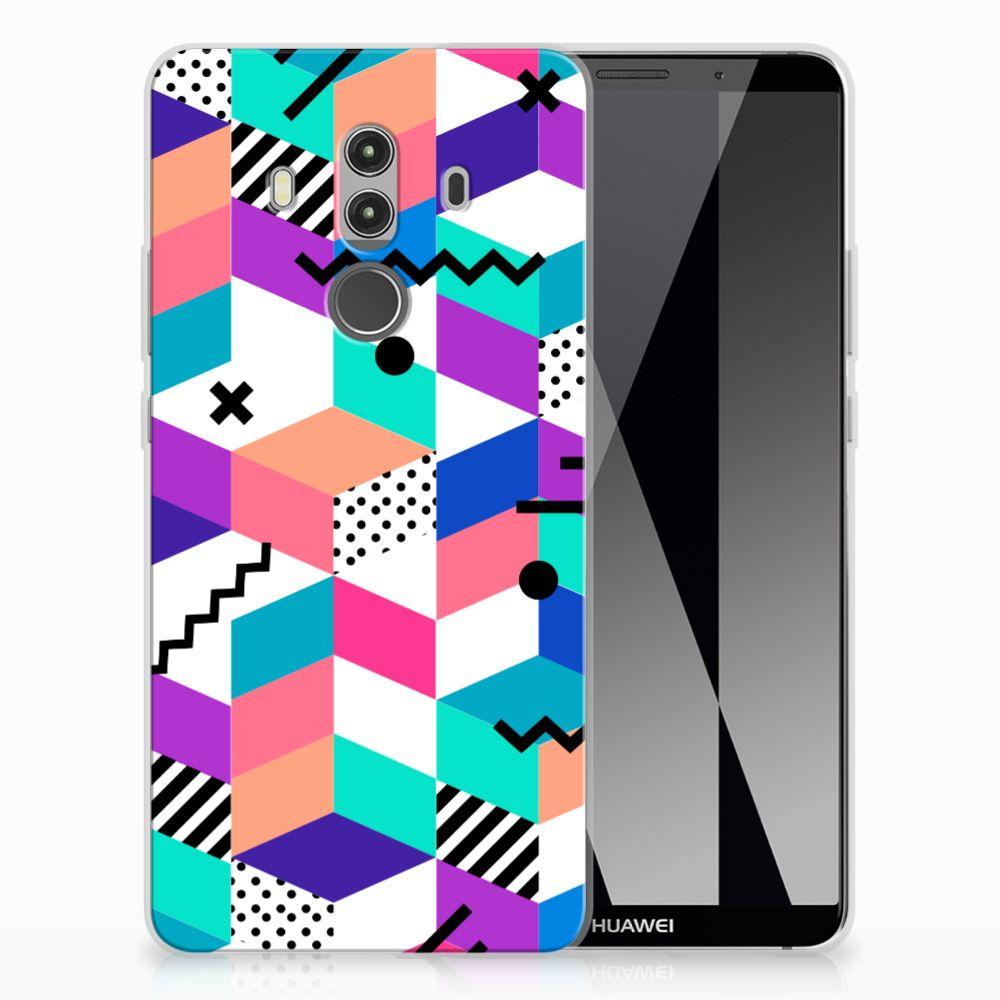 Huawei Mate 10 Pro TPU Hoesje Blokken Kleurrijk