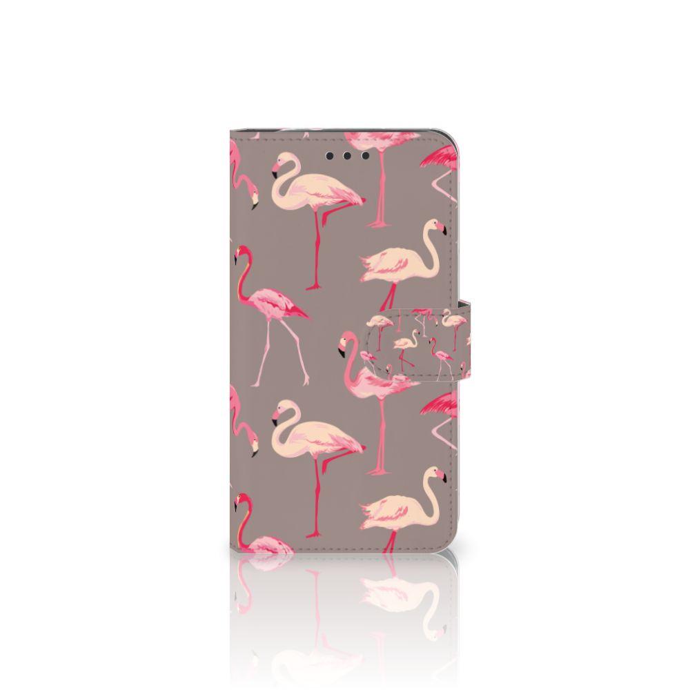Motorola Moto Z2 Force Uniek Boekhoesje Flamingo