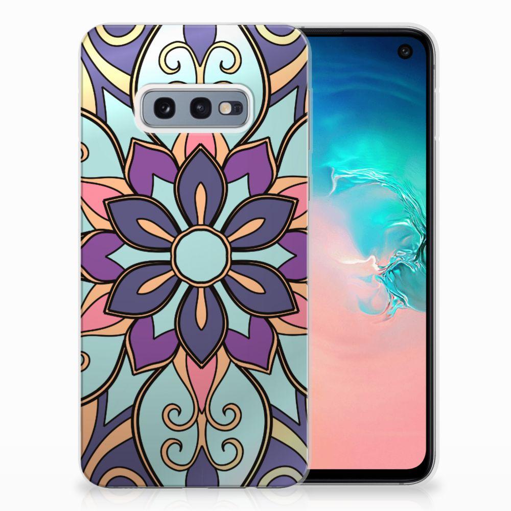 Samsung Galaxy S10e TPU Hoesje Design Purple Flower
