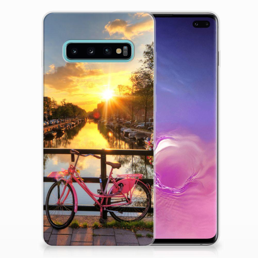 Samsung Galaxy S10 Plus Uniek TPU Hoesje Amsterdamse Grachten