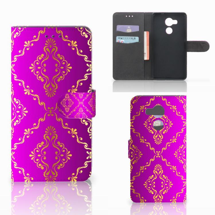 Wallet Case Huawei Mate 8 Barok Roze