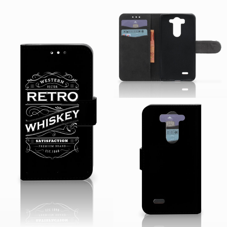 LG G3 S Book Cover Whiskey