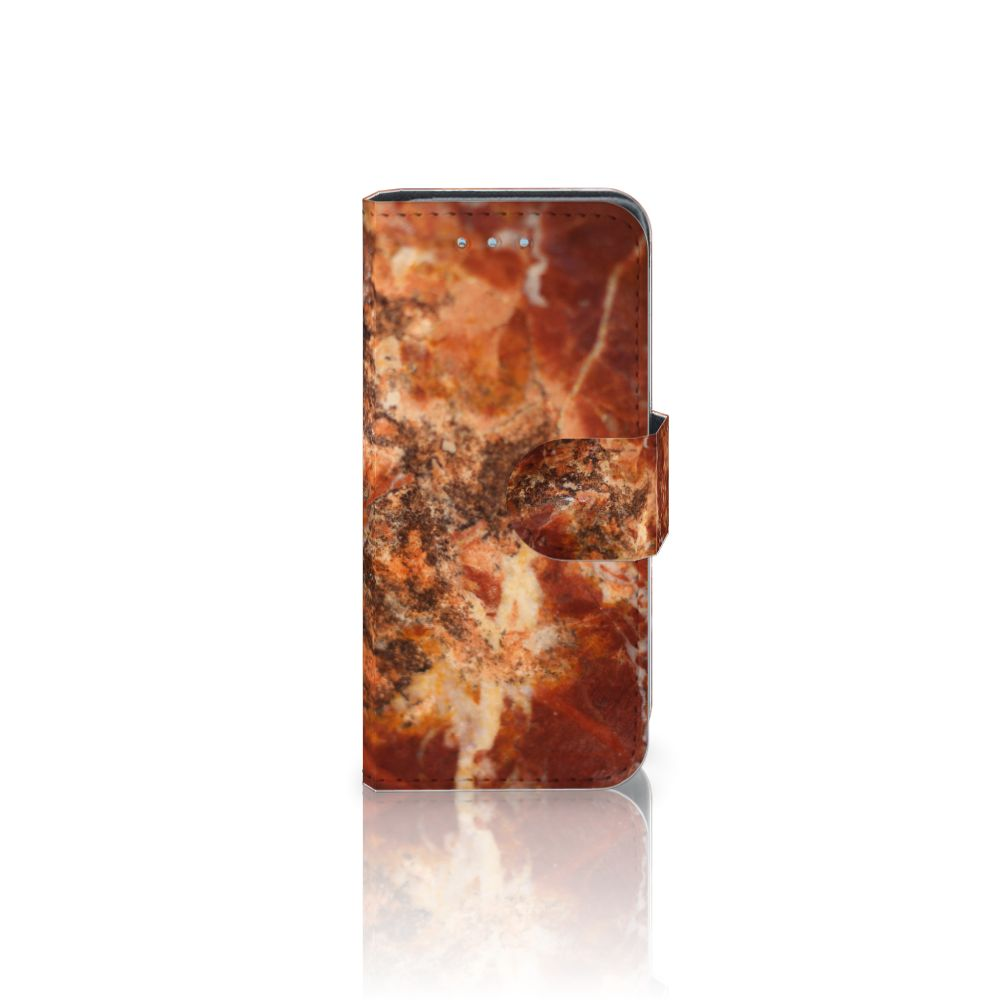 Samsung Galaxy S4 Mini i9190 Boekhoesje Design Marmer Bruin